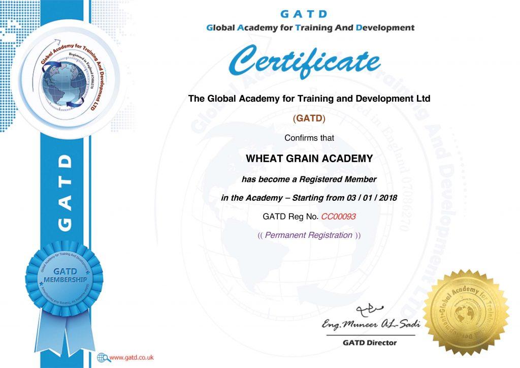 اعتماد الأكاديمية العالمية للتدريب والتطوير البريطانية