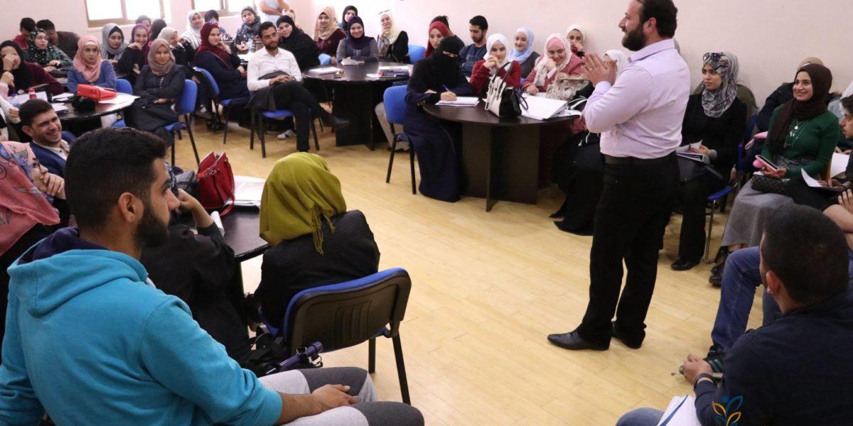 استضافة جامعة البترا للمدرب وسام الحداد وتقديمه لدورة في مهارات القيادة الفعّالة
